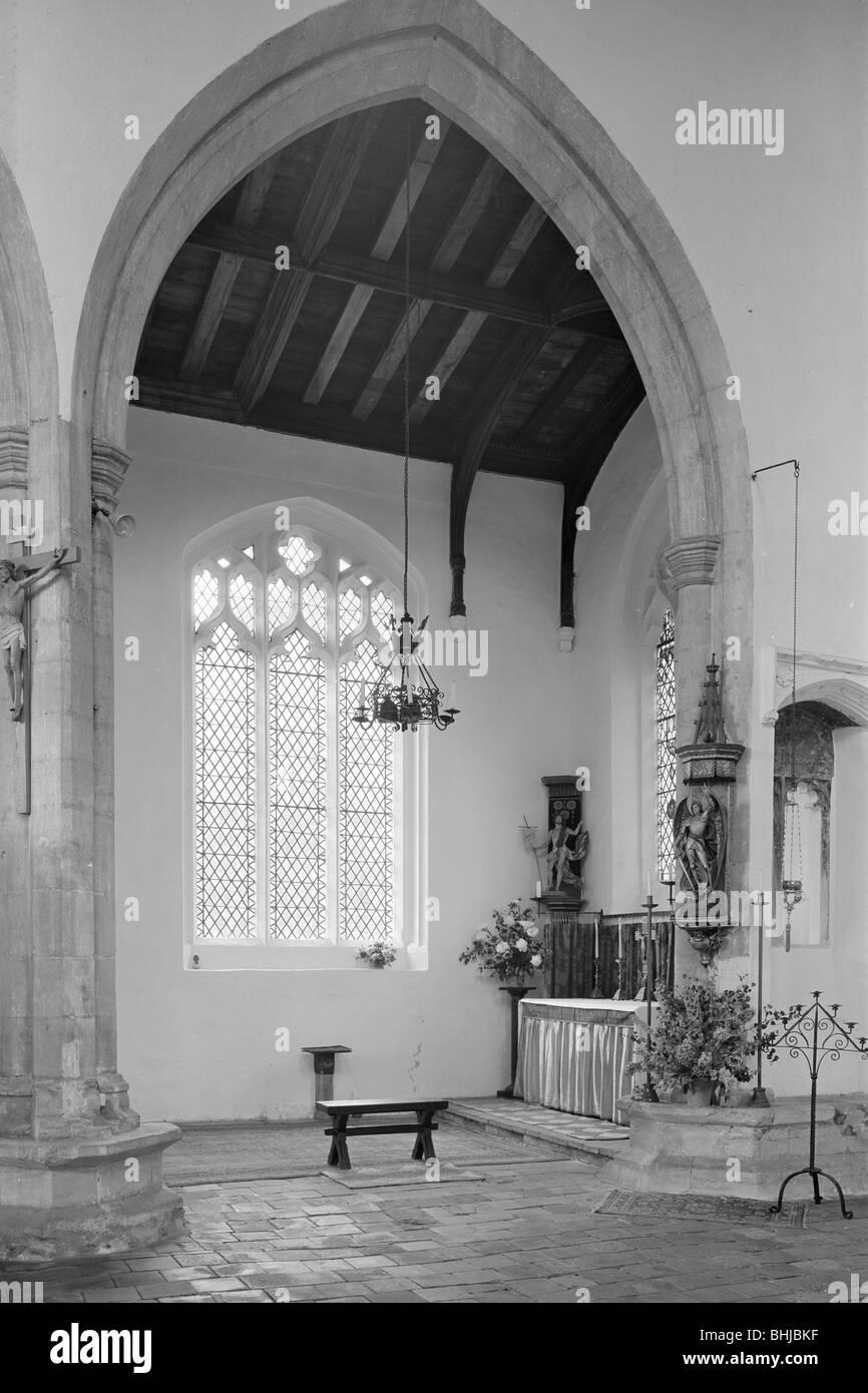 St Mary's church, South Creake, Norfolk, 1967. Artist: Laurence Goldman - Stock Image