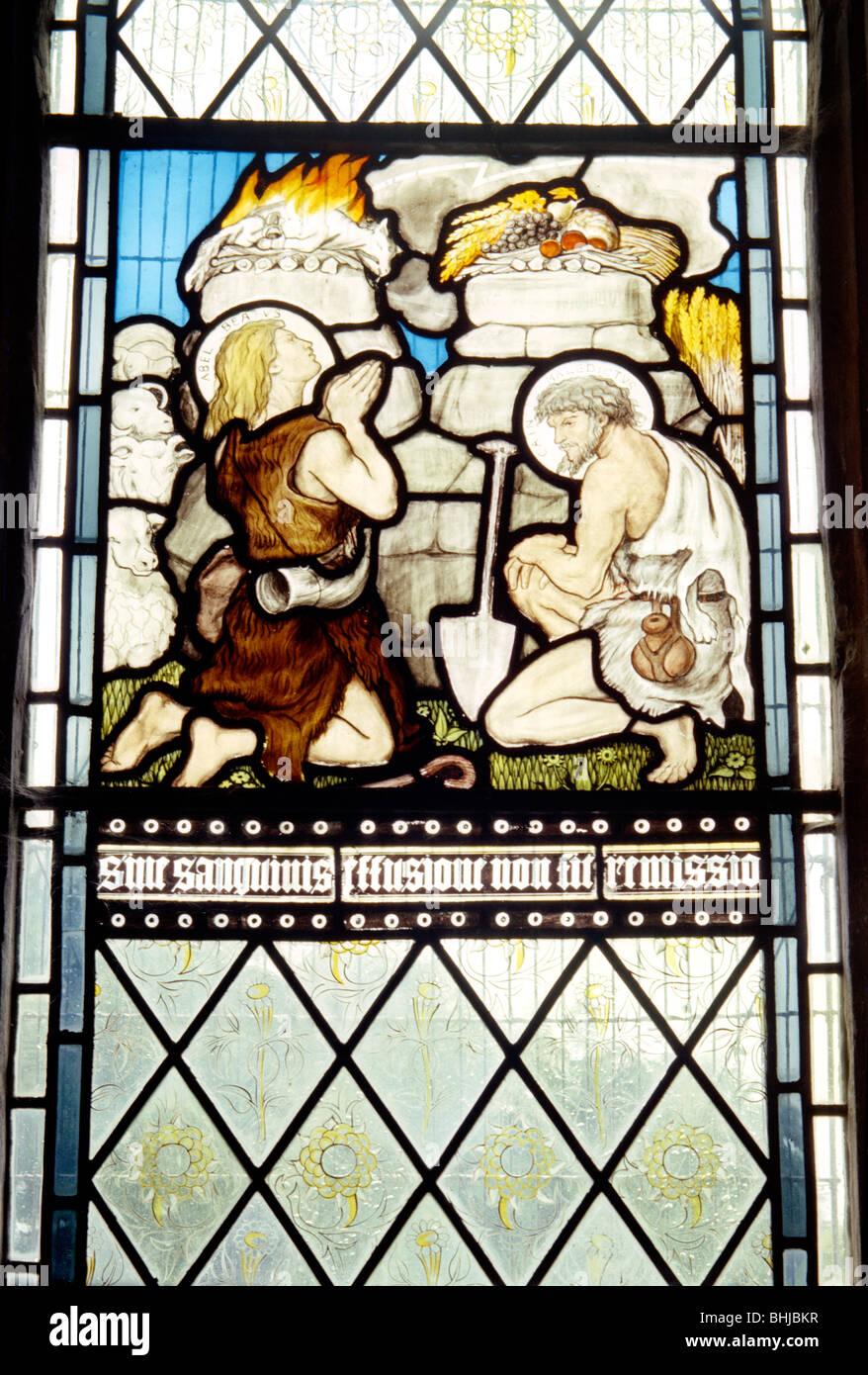 Window in All Saints' church, Middleton Cheney, Northamptonshire, 1963. Artist: Laurence Goldman - Stock Image