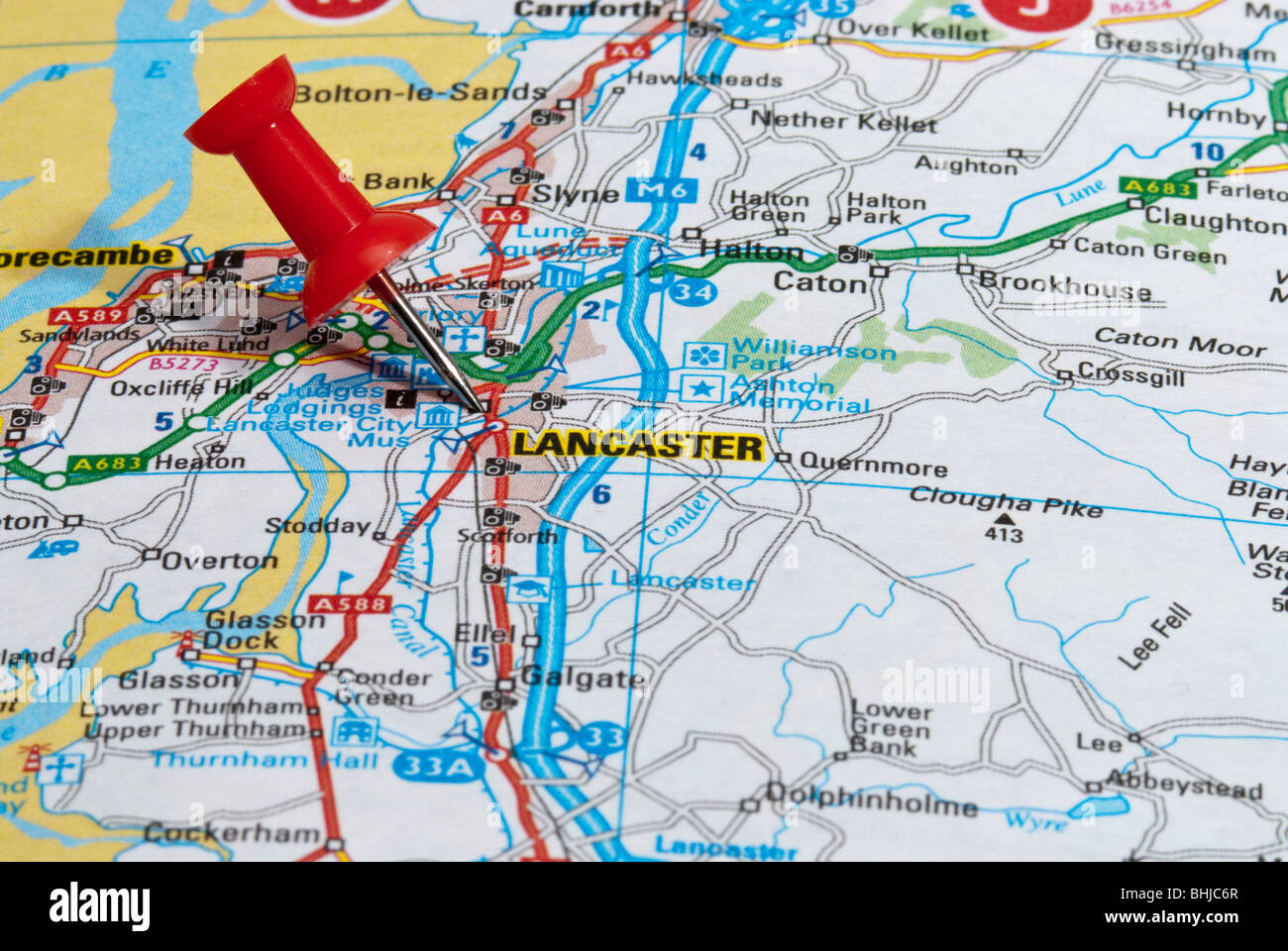 Map Of England Lancaster.Map Of Lancaster England Stock Photos Map Of Lancaster England