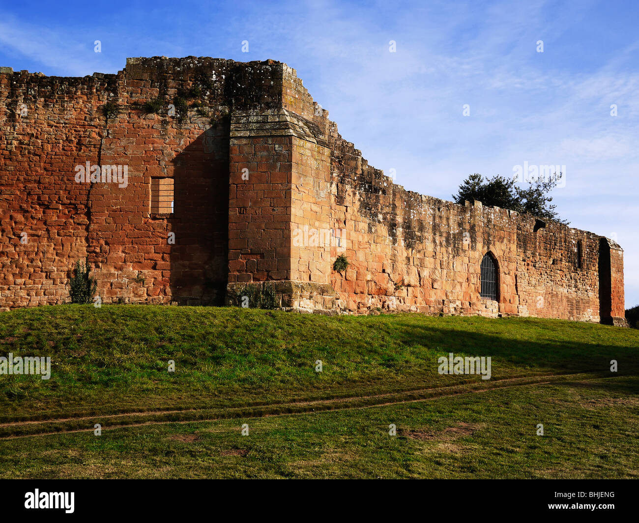 kenilworth castle warwickshire the midlands england uk - Stock Image