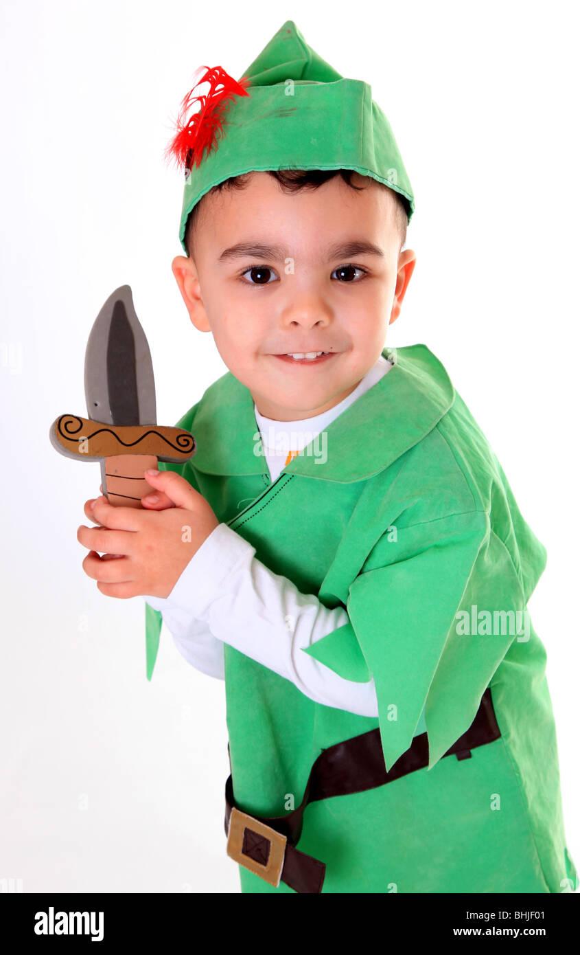 Boy in Robin Hood Fancy dress costume  sc 1 st  Alamy & Boy in Robin Hood Fancy dress costume Stock Photo: 28066417 - Alamy
