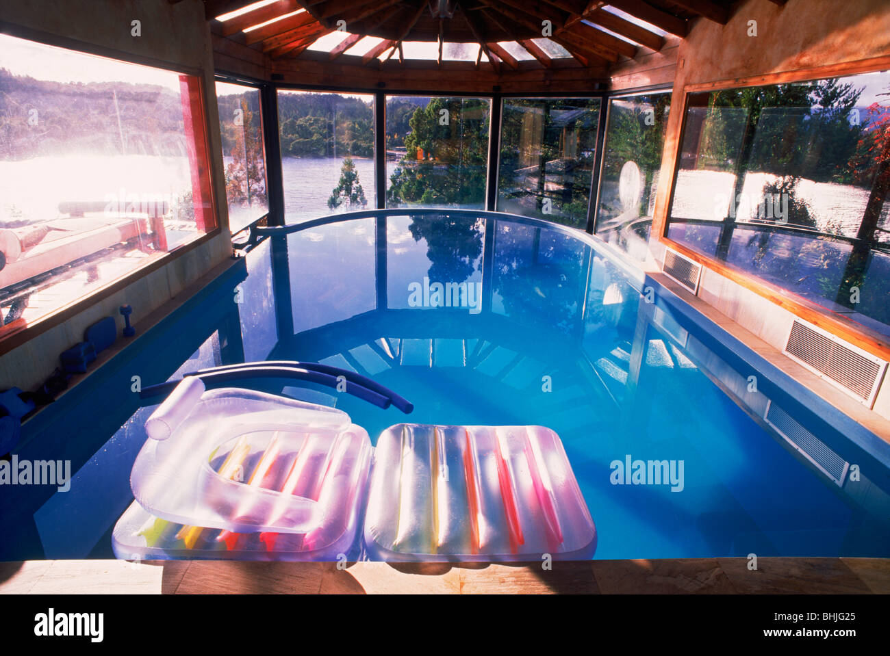 Private home with indoor outdoor swimming pool on hillside ...