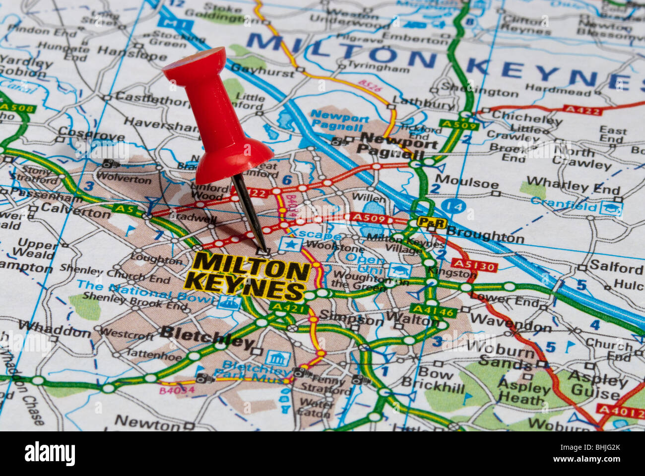Milton Keynes Map red map pin in road map pointing to city of Milton Keynes Stock  Milton Keynes Map