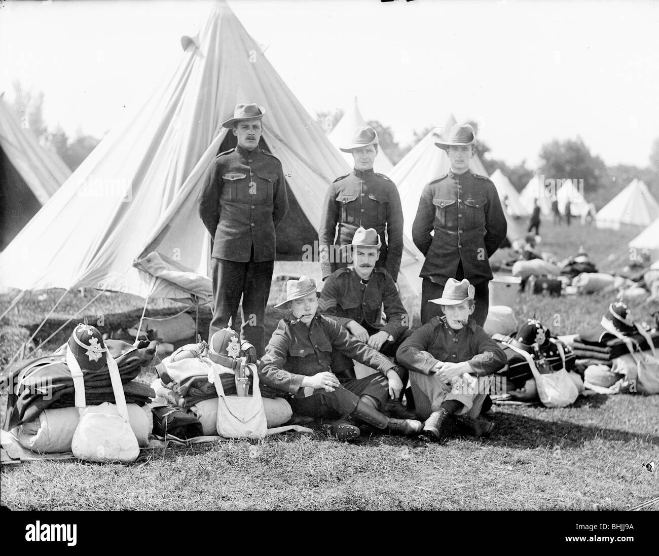 Camping, c1860-c1922. Artist: Henry Taunt - Stock Image