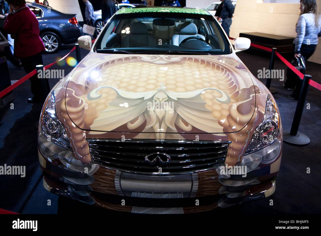 Infiniti G35 Custom >> Infiniti G35 Custom Paint Job Stock Photo 28070761 Alamy