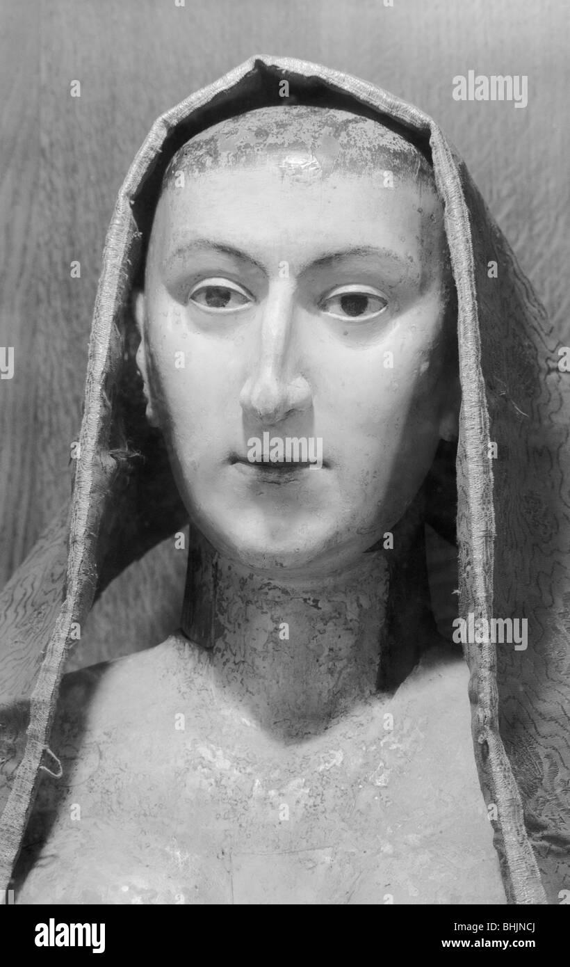 Royal funeral effigy of Anne of Denmark, Westminster Abbey, London, 1945-1980. Artist: Eric de Maré - Stock Image