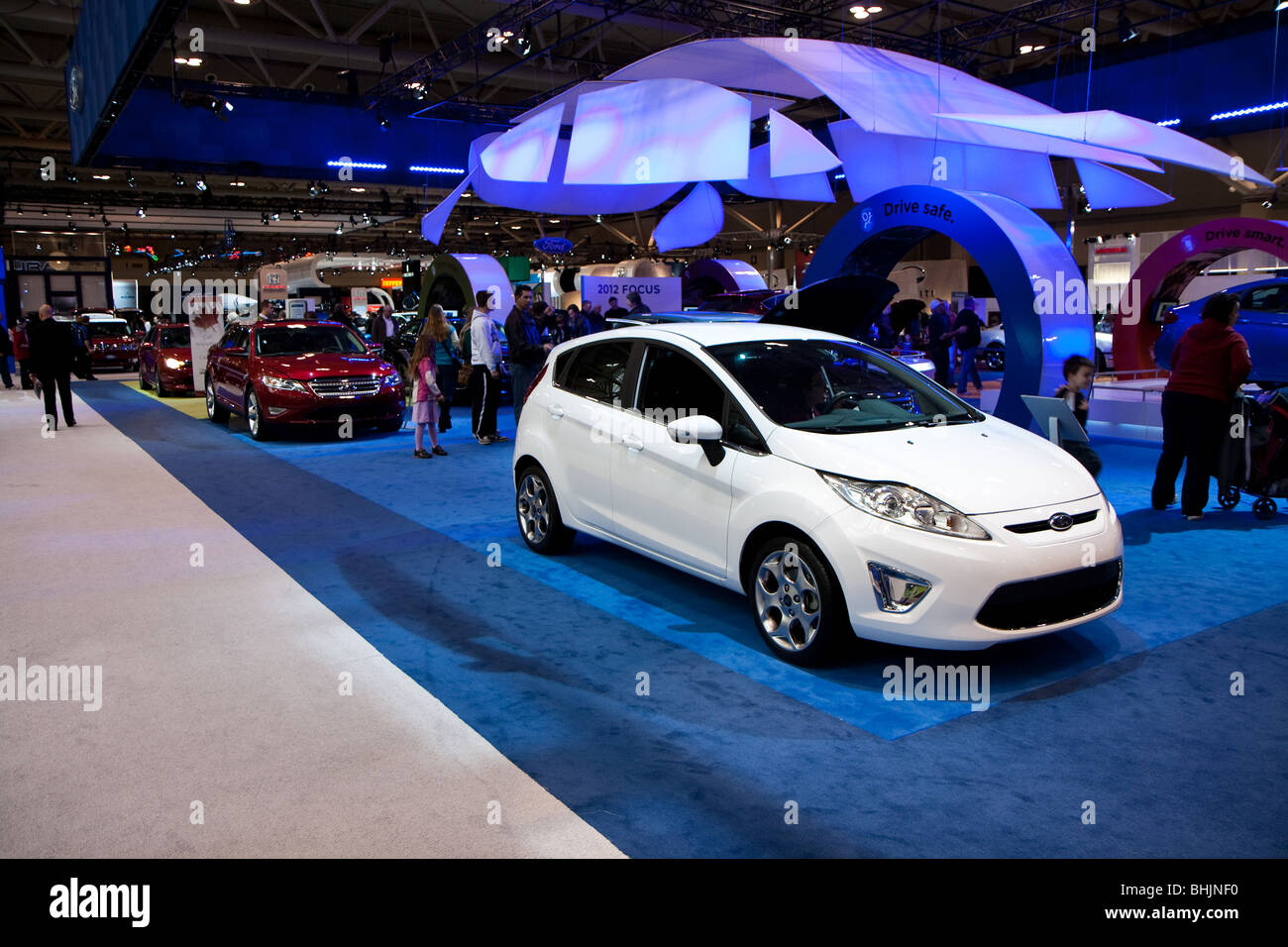 ford autoshow booth - Stock Image