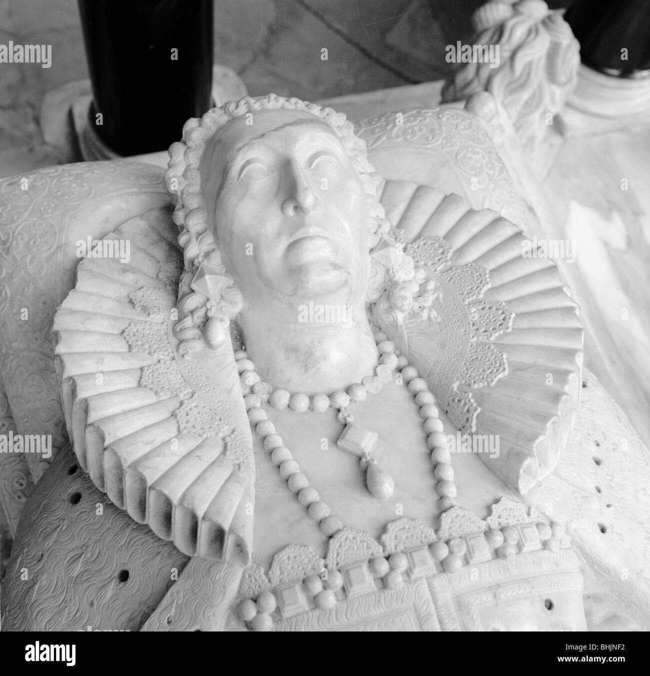 Tomb of Queen Elizabeth I, Westminster Abbey, London, 1945-1980.  Artist: Eric de Maré - Stock Image