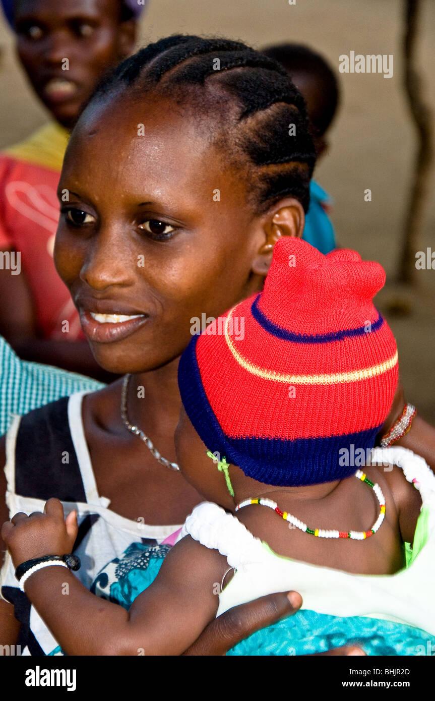 Giriama Tribeswoman, Watamu, Kenya, Africa - Stock Image