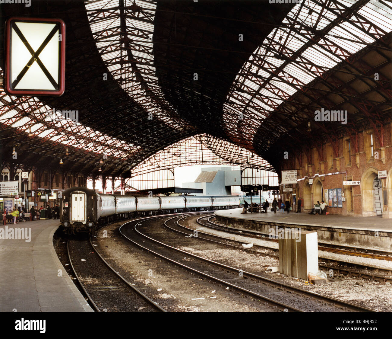 Temple Meads Station, Bristol. Artist: M Hesketh Roberts Stock Photo