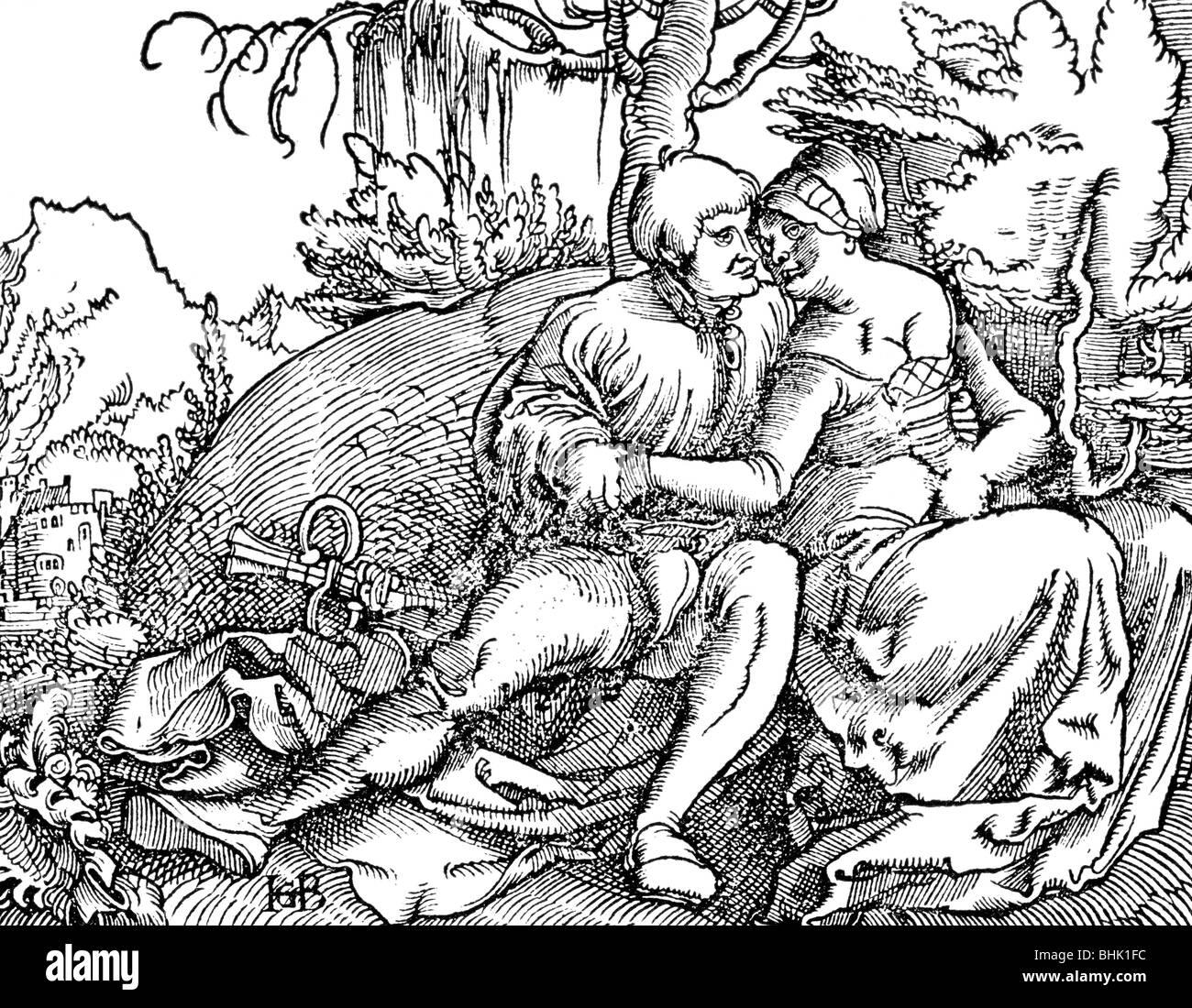 Geiler von Kaisersberg, Johann, 16.3.1445 - 10.3.1510, German clergyman, works, 'Fragmenta passionis', woodcut, - Stock Image