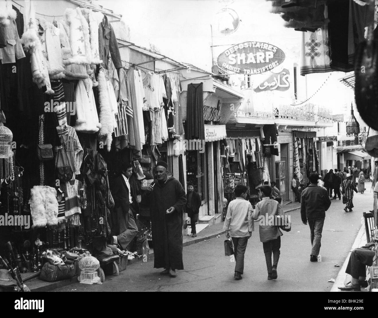 geography / travel, Morocco, Tangier, street scenes, street scene, Rue es-Siaghim, 1960s, Additional-Rights-Clearances - Stock Image