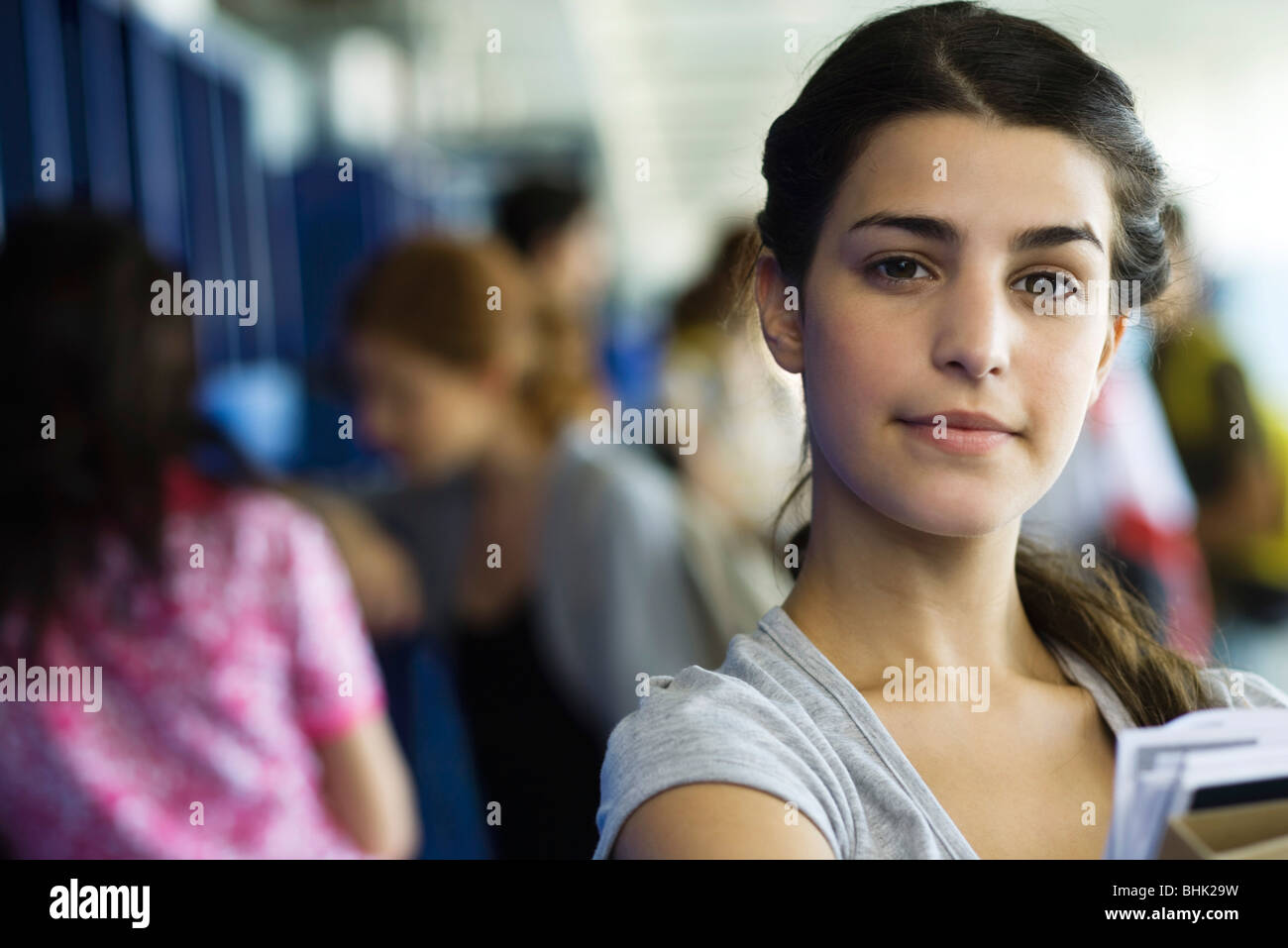 Female high school student, portrait - Stock Image