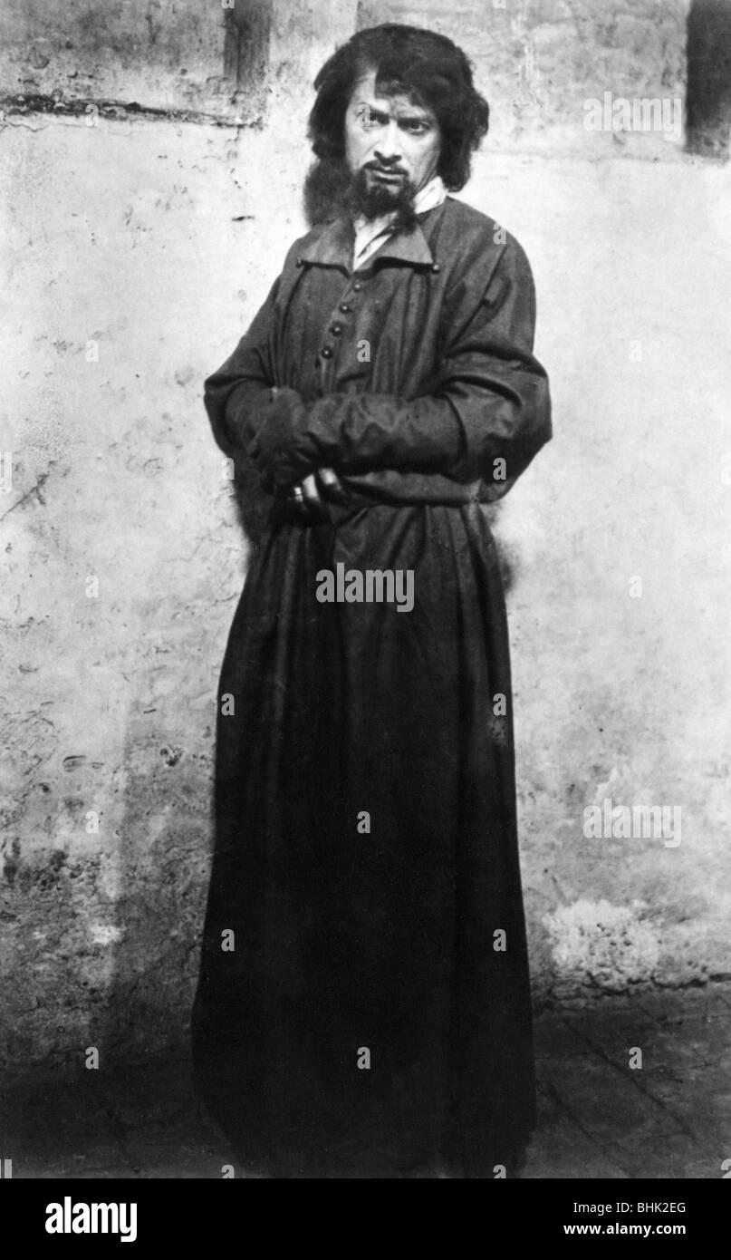 """Kainz, Josef, 2.1.1858 - 20.9.1910, Austrian actor, as Heinrich in the play """"Der arme Heinrich"""" by Gerhard Hauptmann, Stock Photo"""