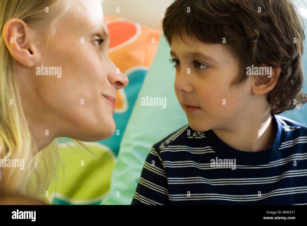 Mother with young son - Stock Image