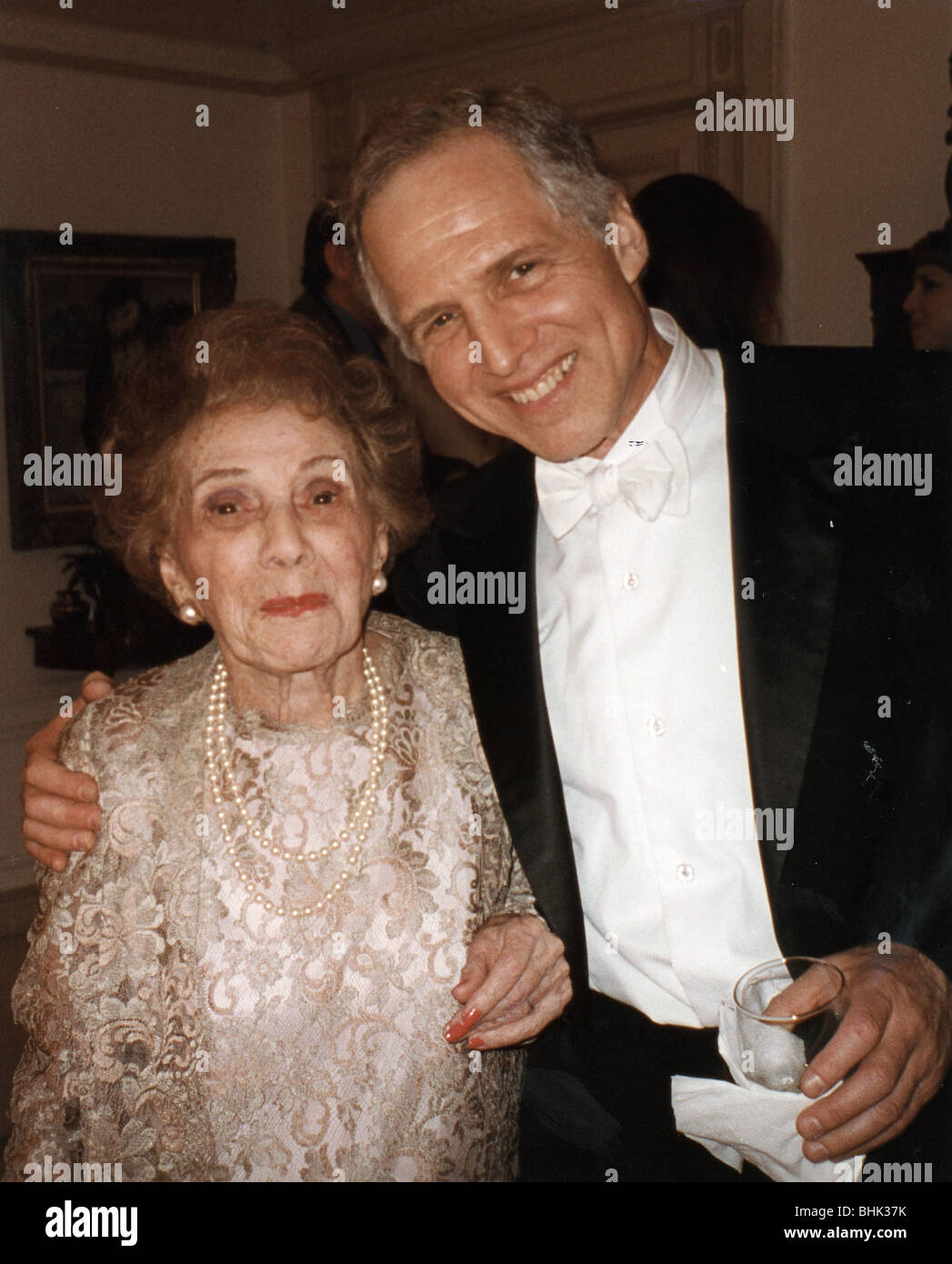 Frances Gershwin (sister of George Gershwin) and her son, Leopold Godowsky III, New York, July 1998. Artist: George - Stock Image