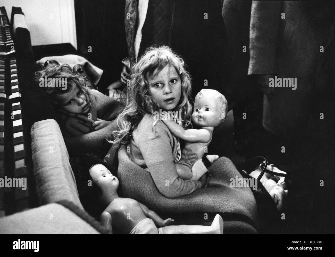 geography / travel, Congo, people, evacuated children in an airplane, 24.- 26.11.1964, , Additional-Rights-Clearances - Stock Image