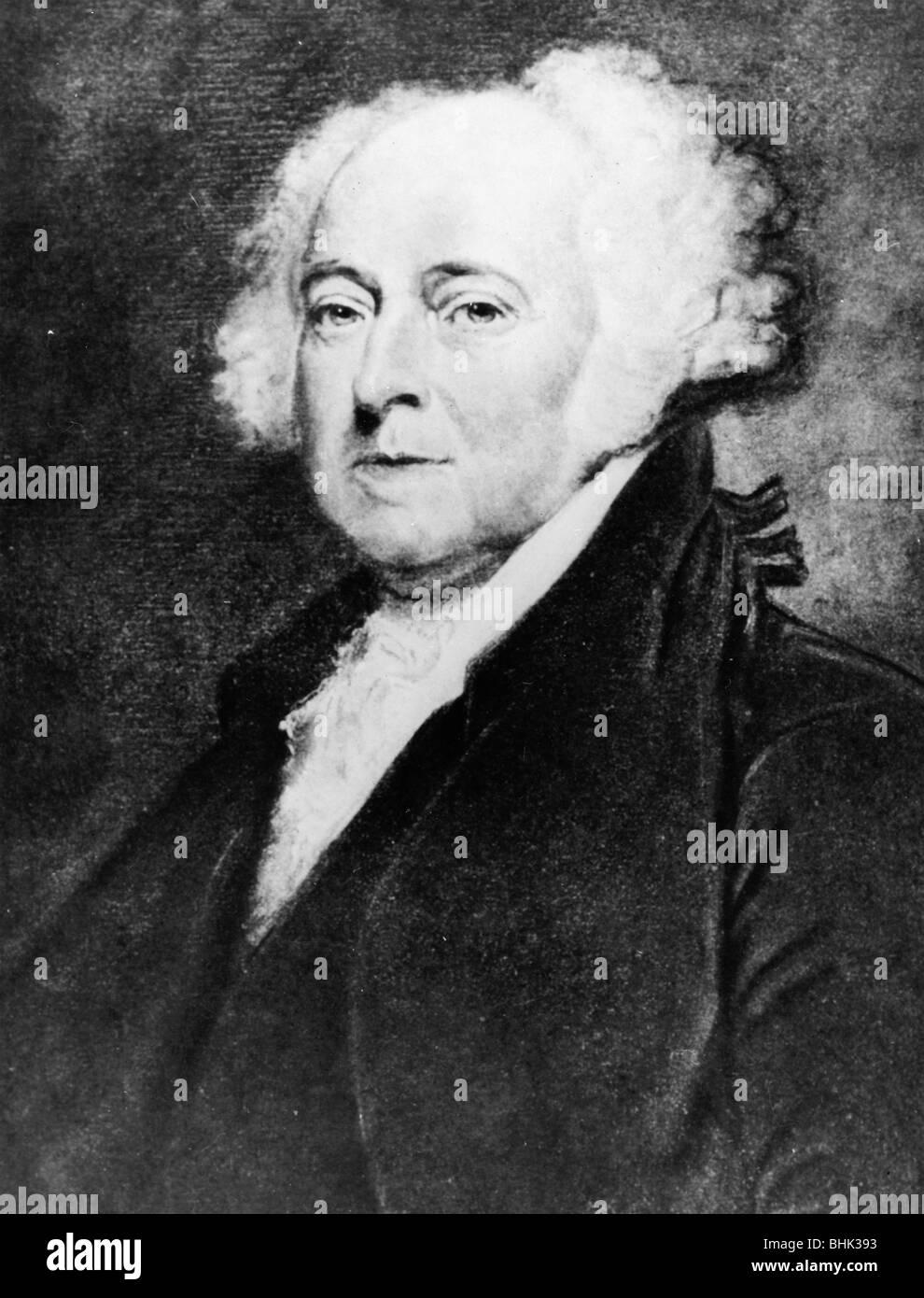 John Adams 1735-1826 Three-man portrait 1797-1801 the second president of the United States.