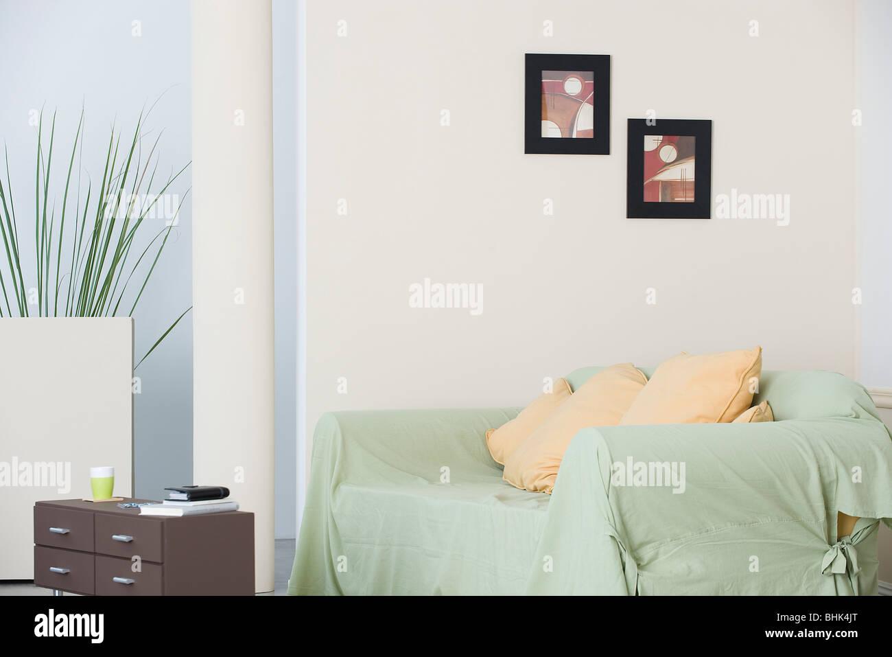 Living room sofa - Stock Image
