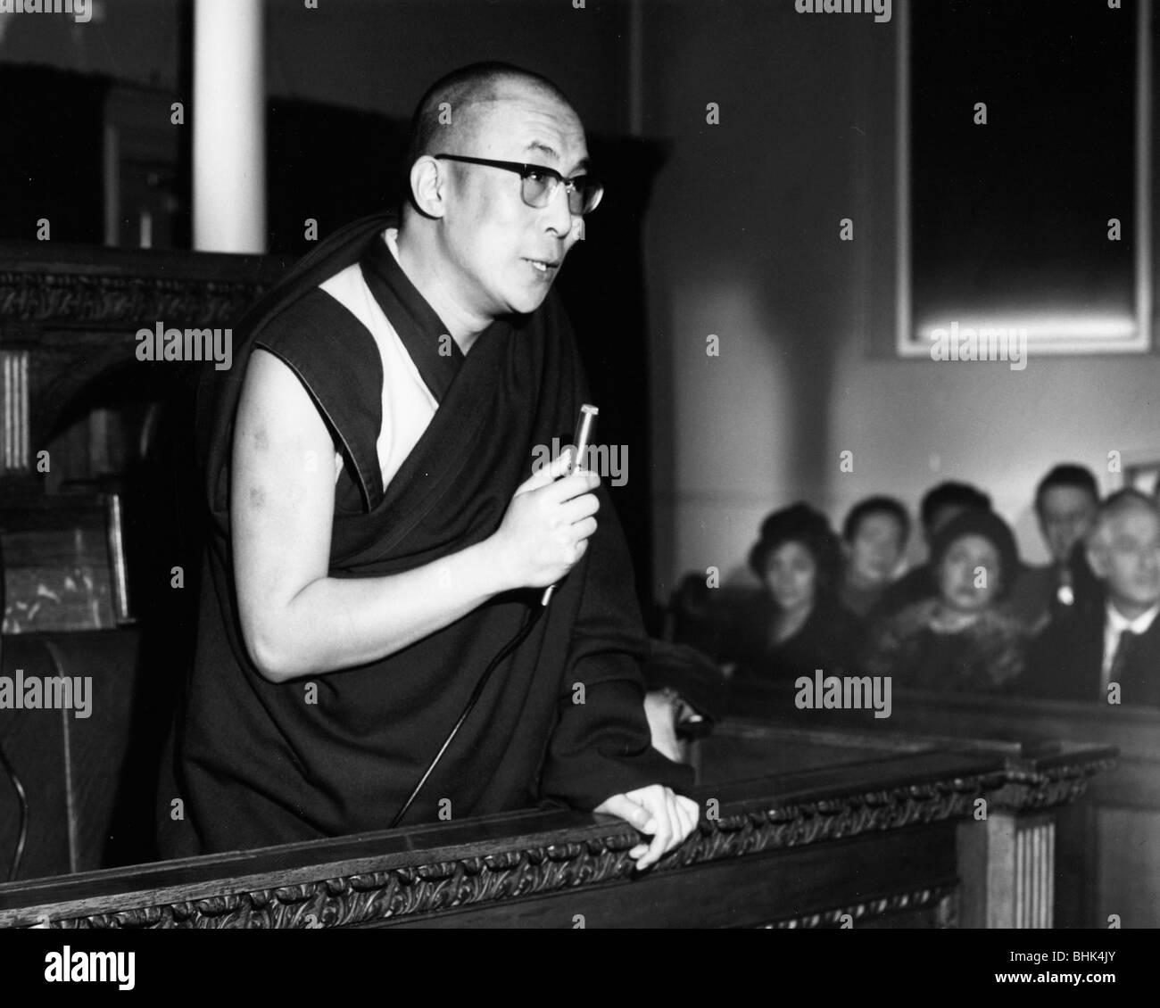 Dalai Lama, the 14th Dalai Lama of Tibet, 1973. - Stock Image