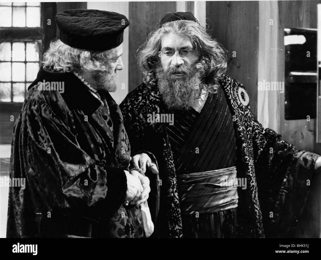 Frank Finlay (1926- ), British actor, as Shylock in 'The Merchant of Venice'. - Stock Image