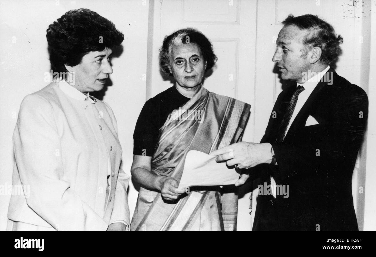Indira Gandhi (1917-1984), Prime Minister of India, 1966-77 and 1980-84. - Stock Image