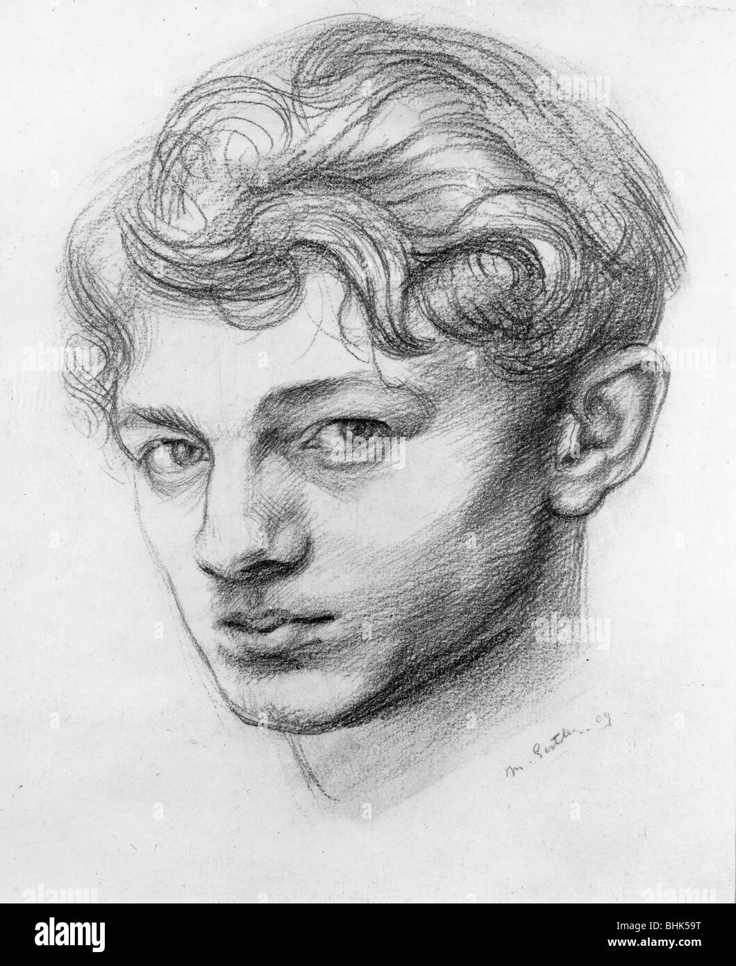 Mark Gertler (1891-1939), British artist - Self Portrait. Artist: Mark Gertler Stock Photo