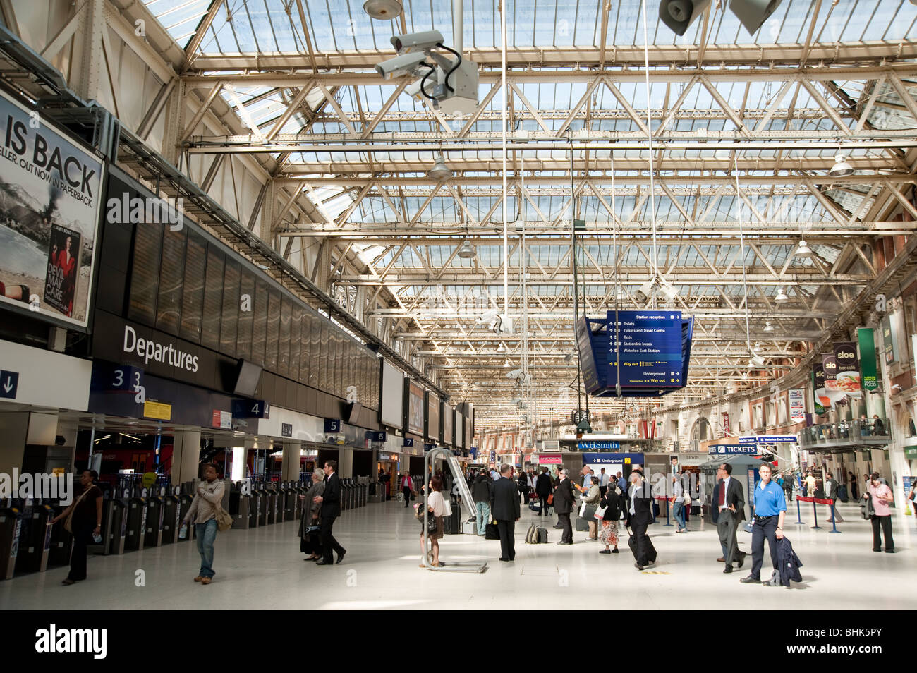 Waterloo station in London - Stock Image
