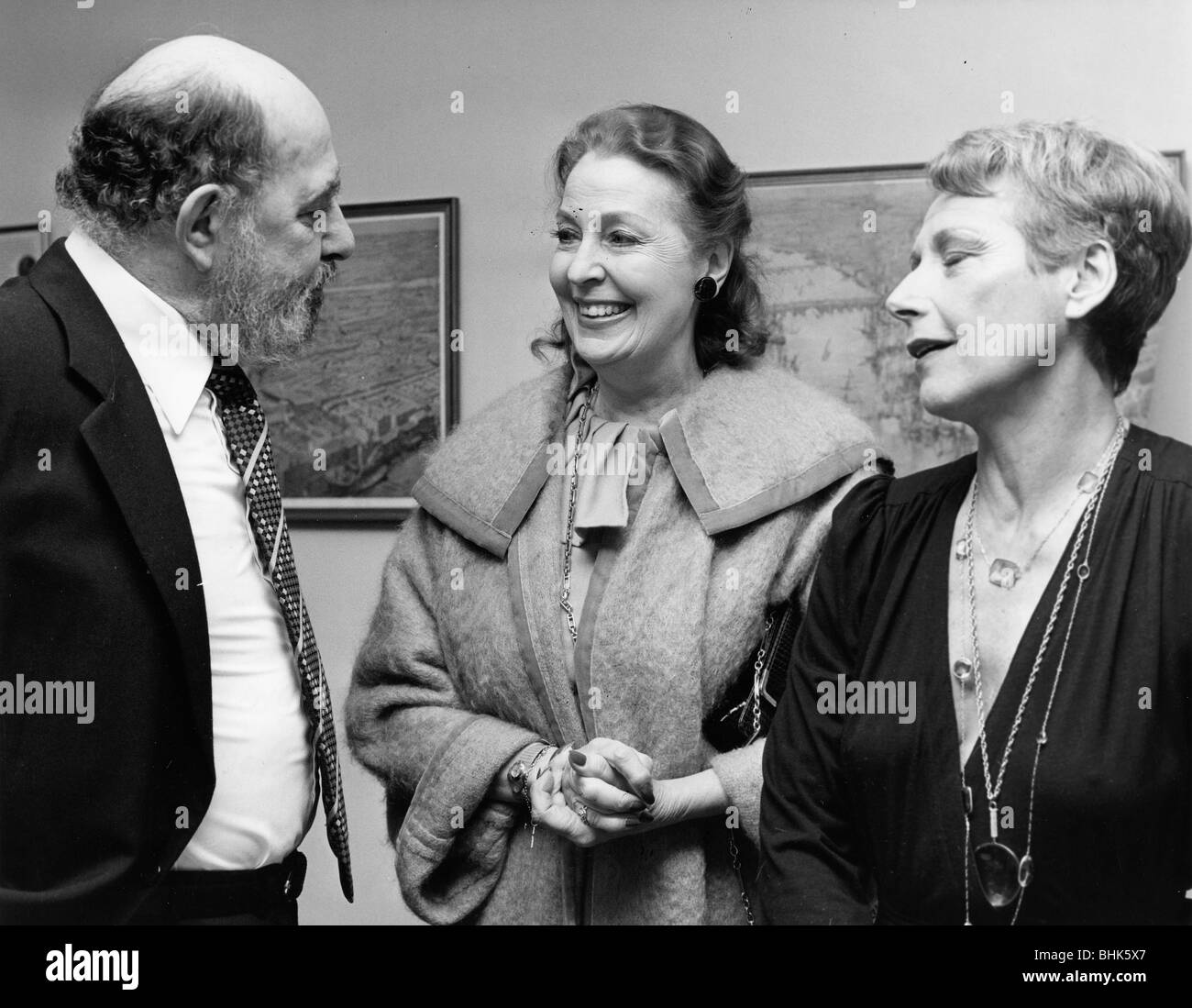 Alfred Marks, British comedian, with Valerie Hobson & Helen Shapiro. - Stock Image