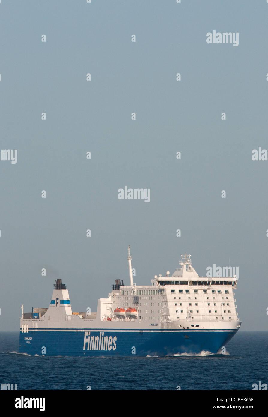 The Finnlines ro/pax-ferry Finnlady. - Stock Image