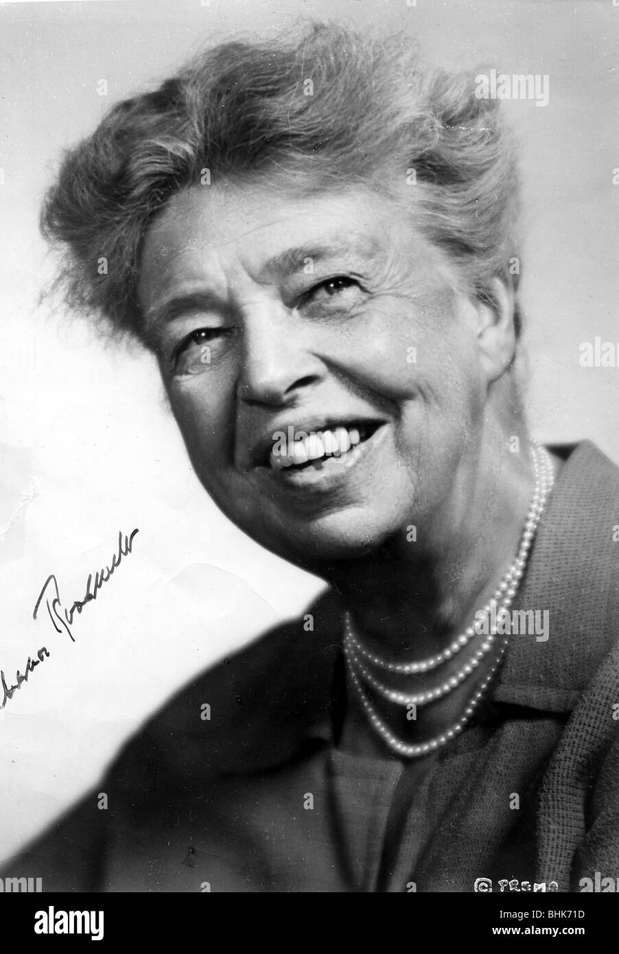 Eleanor Roosevelt (1892-1962), American First Lady. - Stock Image