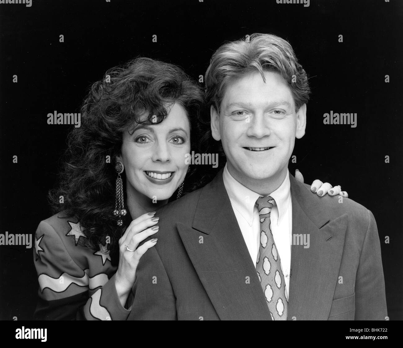 Kenneth Branagh (1960- ), British actor, with Rita Rudner (1956- ), American actress, 1991. Stock Photo