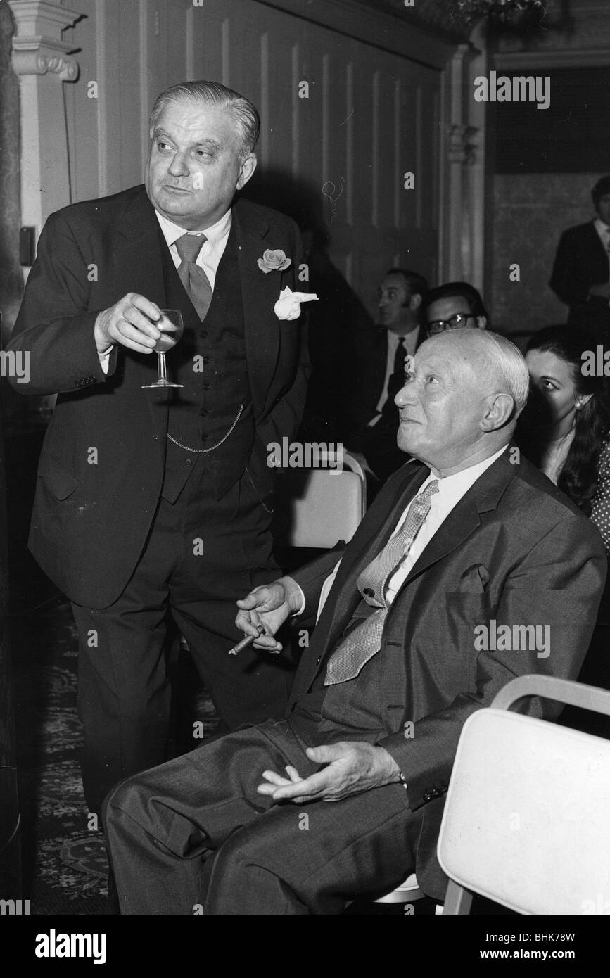 Lord Shinwell and Lord Boothby, 1970. - Stock Image