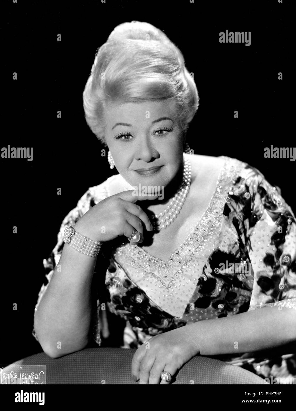 Sophie Tucker (1884-1966), American Jewish entertainer, 1965. Stock Photo