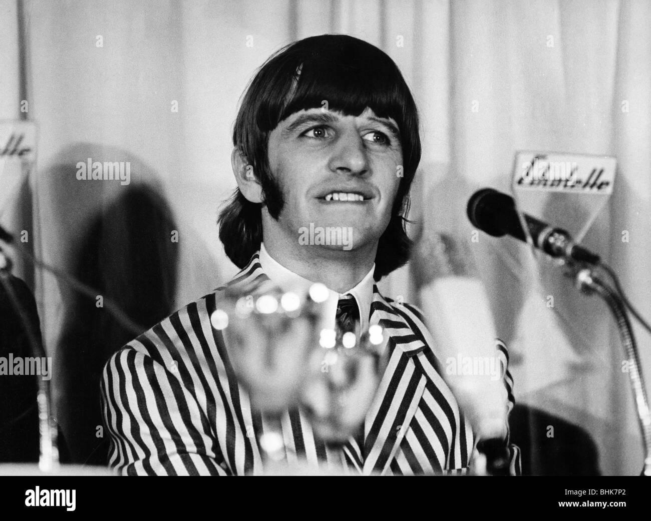 Beatles, 1960 - 1970, British rock band, Ringo Starr, conference, 'Bravo Blitz Tour', Munich, 24.6.1966, - Stock Image