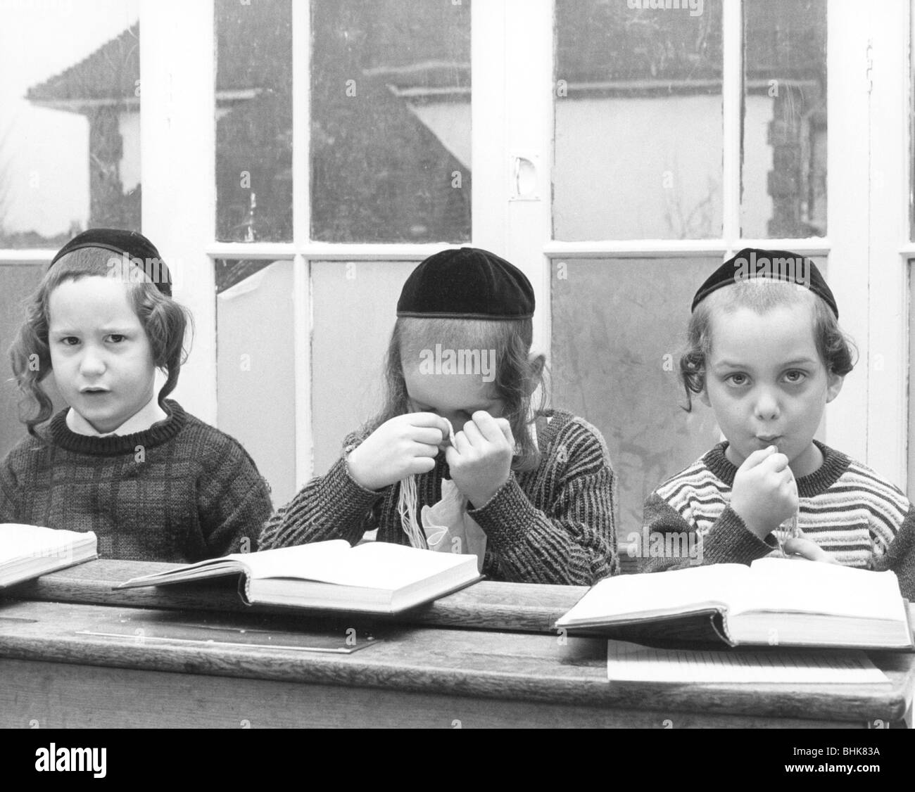 Jewish primary school children, c1980s? Artist: Sidney Harris - Stock Image