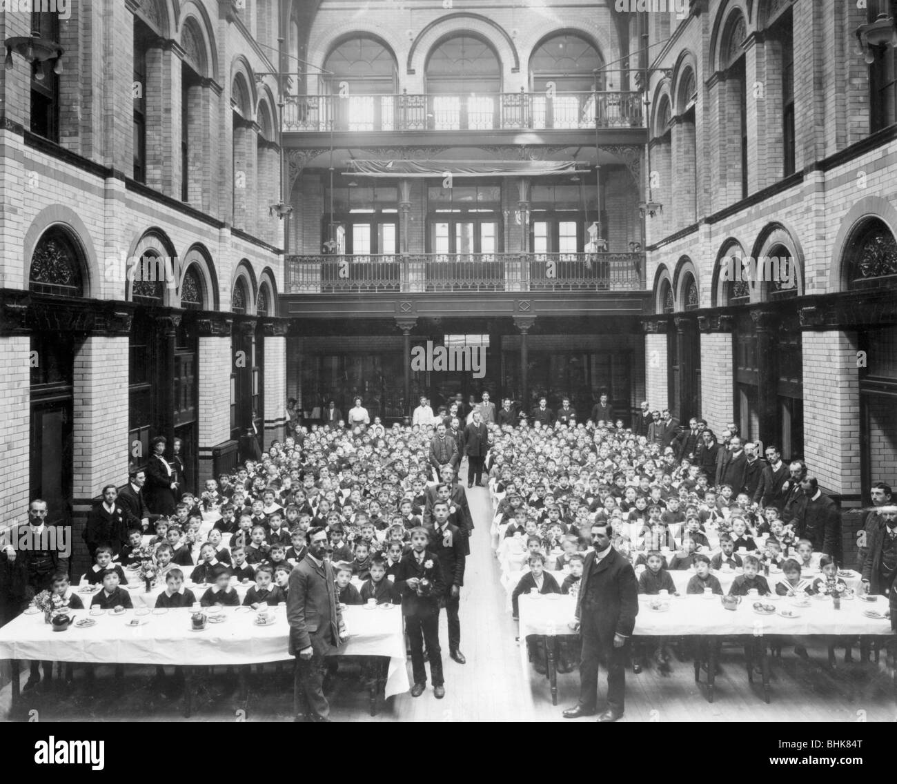Purim party at the Jewish Free School, 1908. - Stock Image