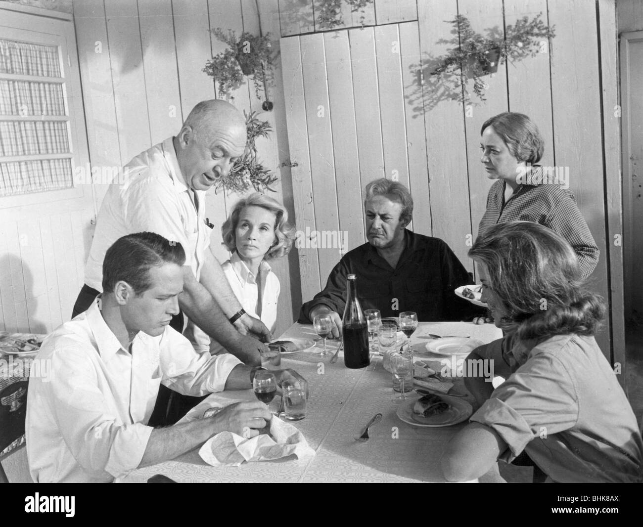 Director and cast of Exodus, 1960. - Stock Image