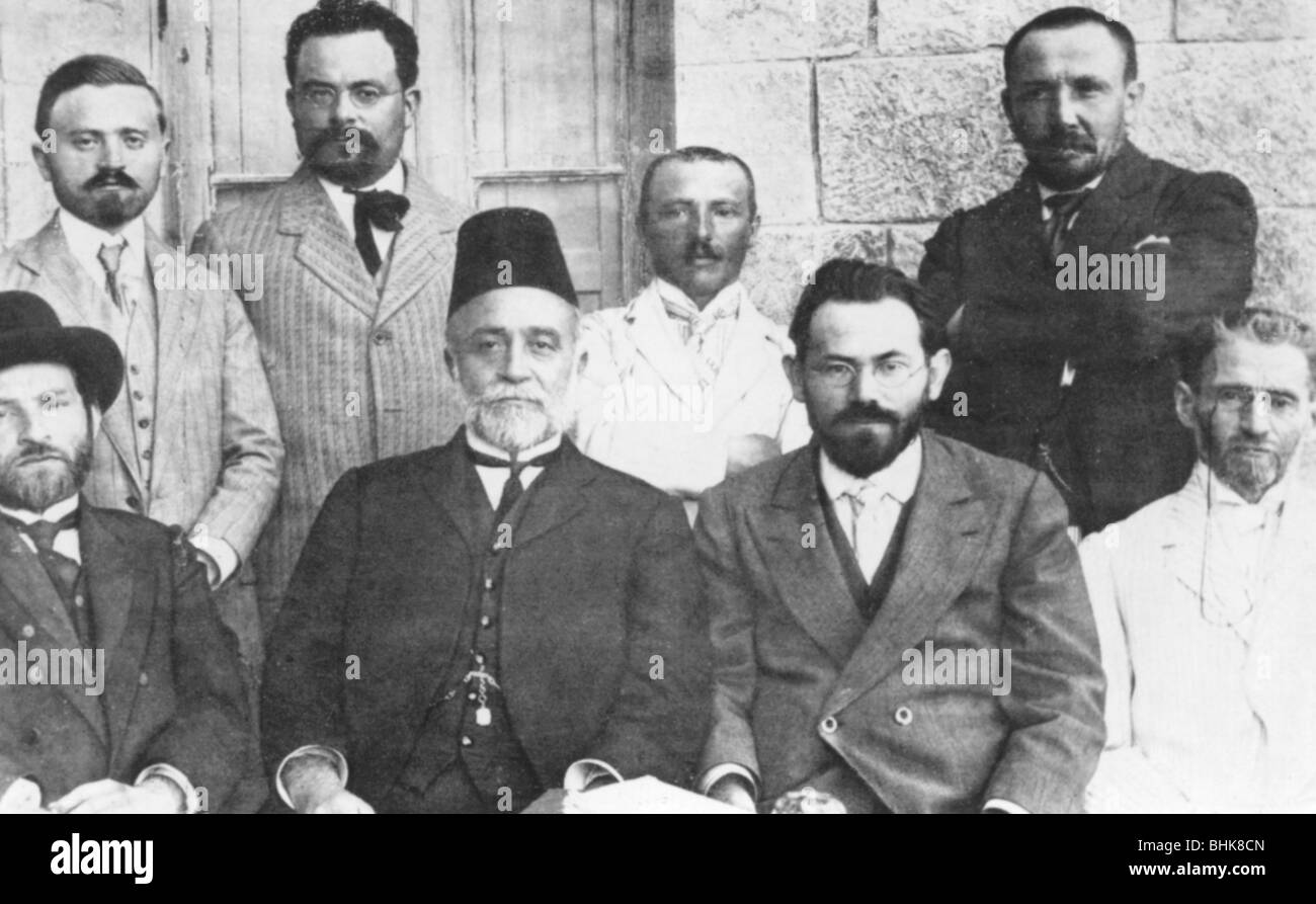 Members of the Hebrew Language Council, 1912. - Stock Image