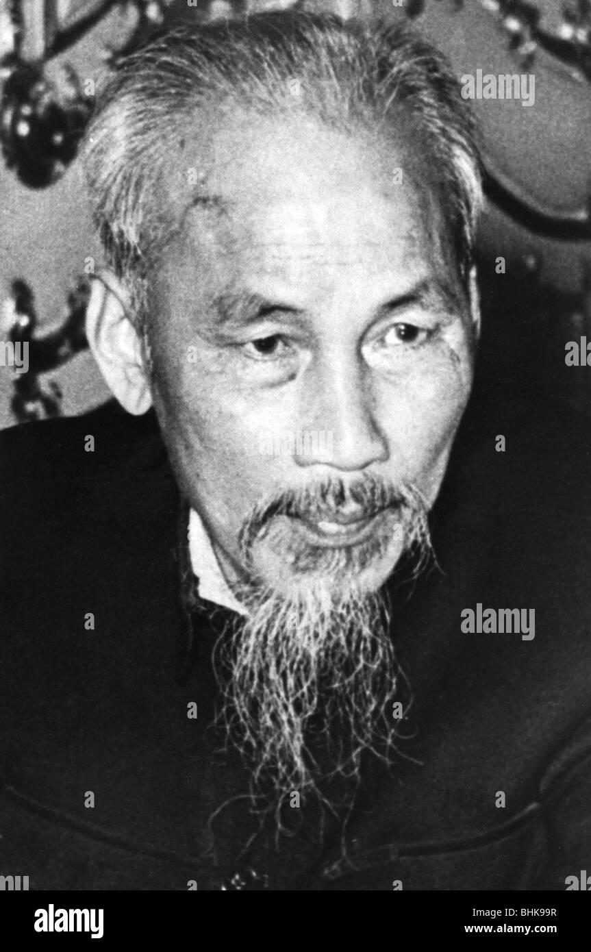 Ho Chi Minh, 15.5.1890 - 3.9. 1969, Vietnamese politician, President of North Vietnam 1955 - 1969, portrait, 1953, - Stock Image