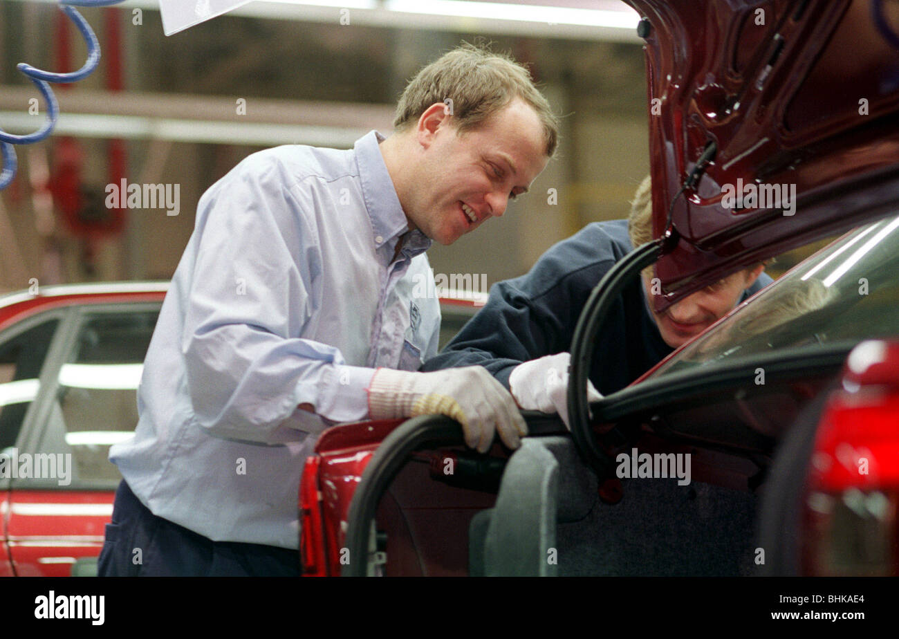 Opel-manufacturing of the Astra Classic model, Gliwice, Poland - Stock Image