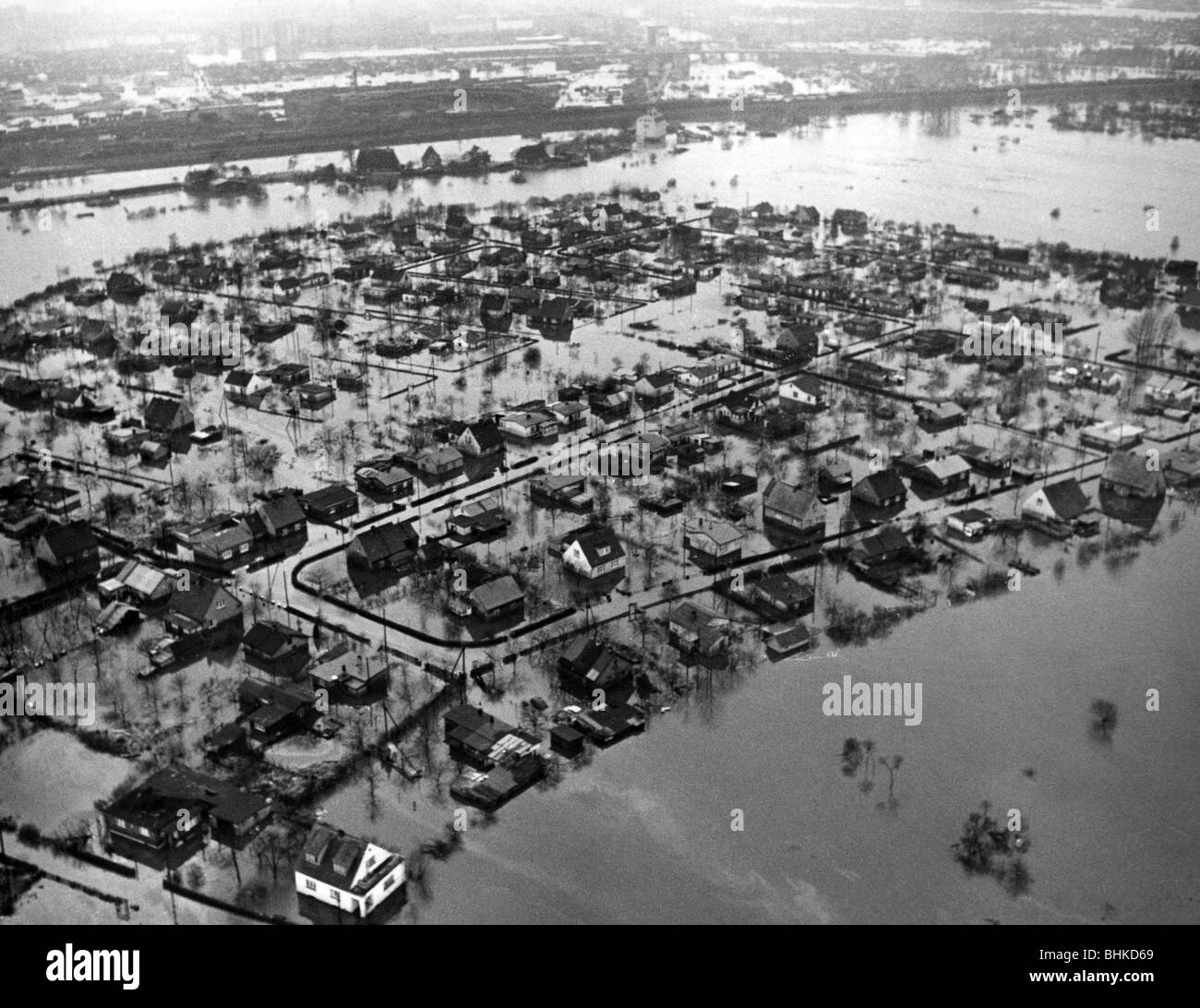 disasters, floods, North Sea flood, 16./17.2.1962, Additional-Rights-Clearances-NA - Stock Image