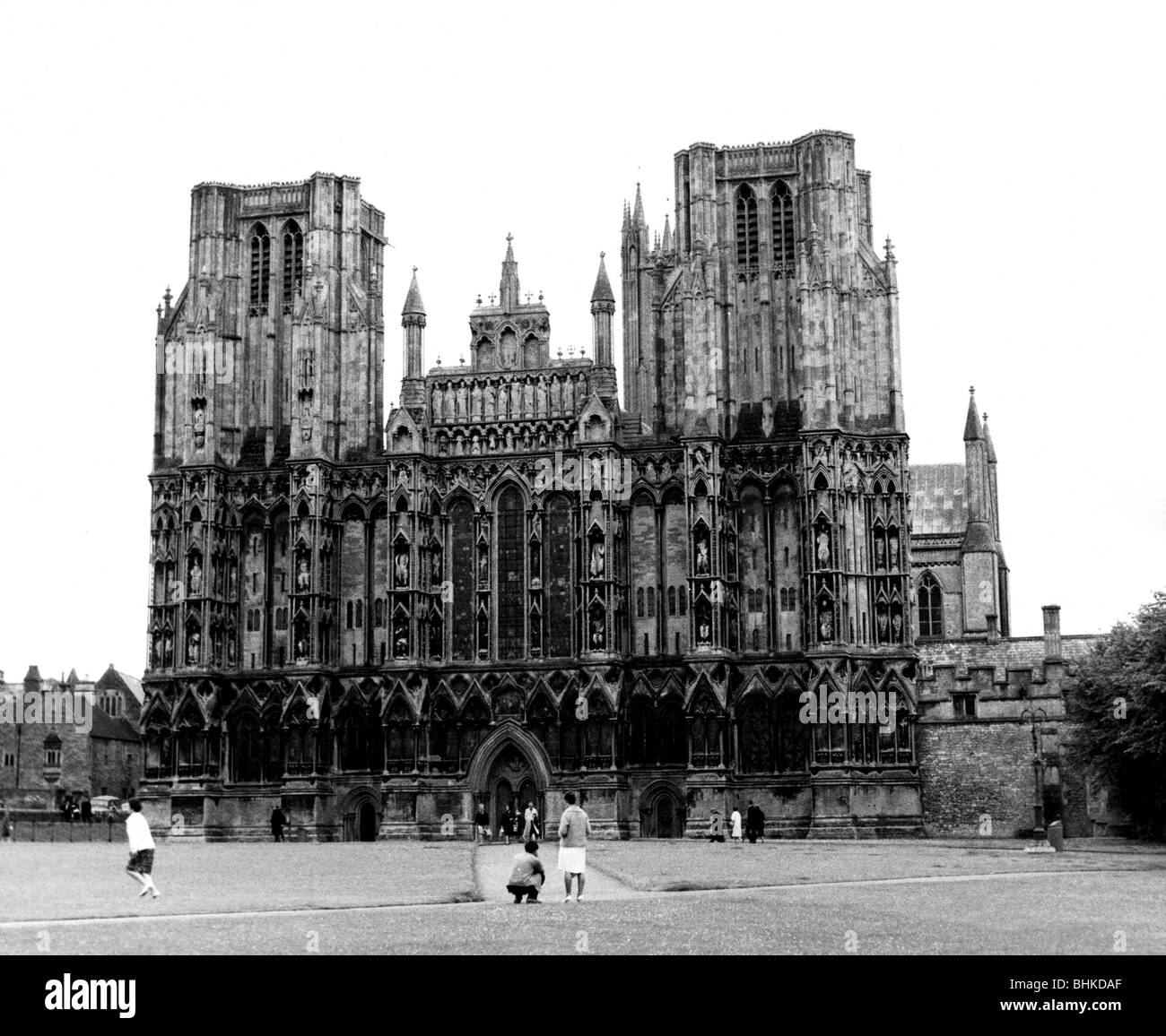 geography / travel, Great Britain, Wells, churches, St. Andrews Cathedral, exterior view, circa 1960, Additional - Stock Image