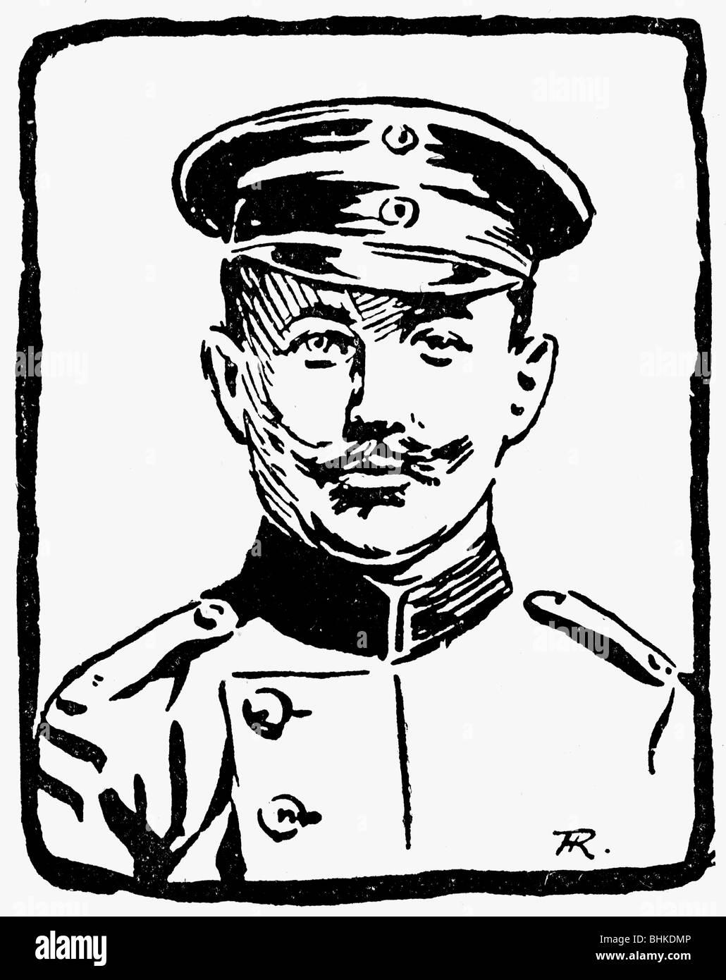 geography / travel, China, Boxer Rebellion 1900/1901, European Intervention, Germ,an Lieutenant Max Drewello, 1st - Stock Image