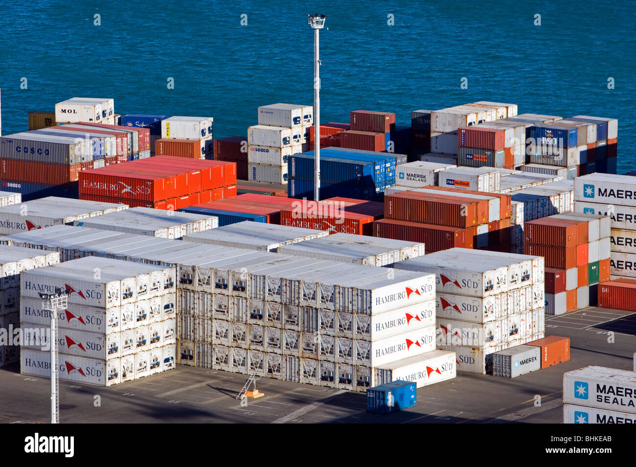 Port of Napier, New Zealand Stock Photo