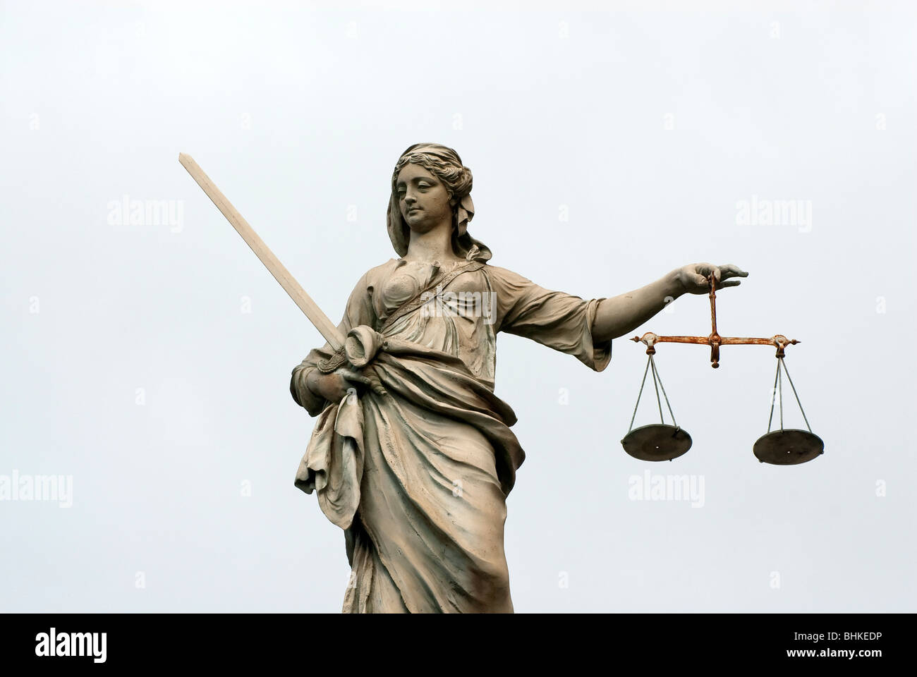 Scales of Justice, Dublin Castle, Ireland - Stock Image