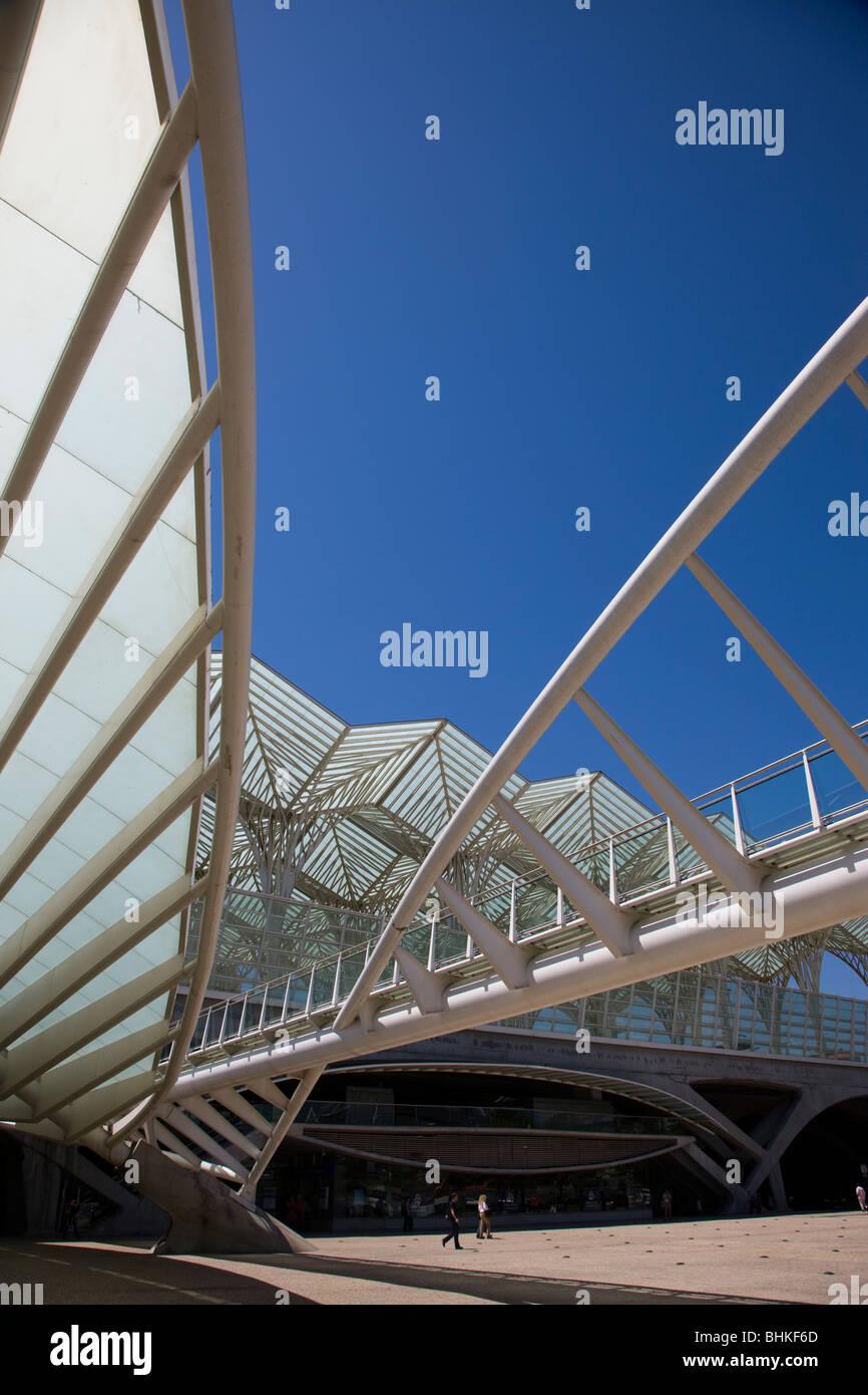 Portugal Lisbon modern design architecture in the Vasco da Gama commercial centre - Stock Image