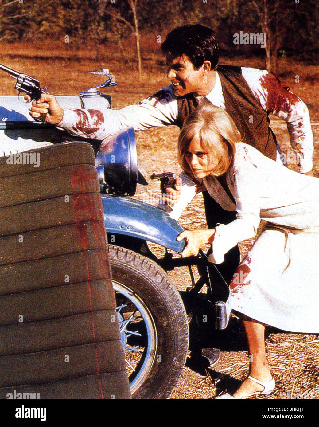 BONNIE AND CLYDE - 1967 Warner film with Warren Beatty and Faye Dunaway - Stock Image