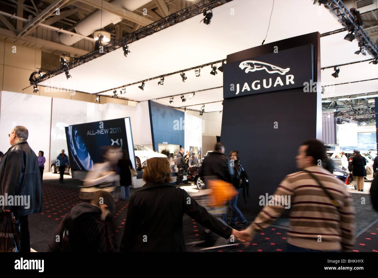Jaguar Car Show Booth Stock Photo Alamy - Car show booth