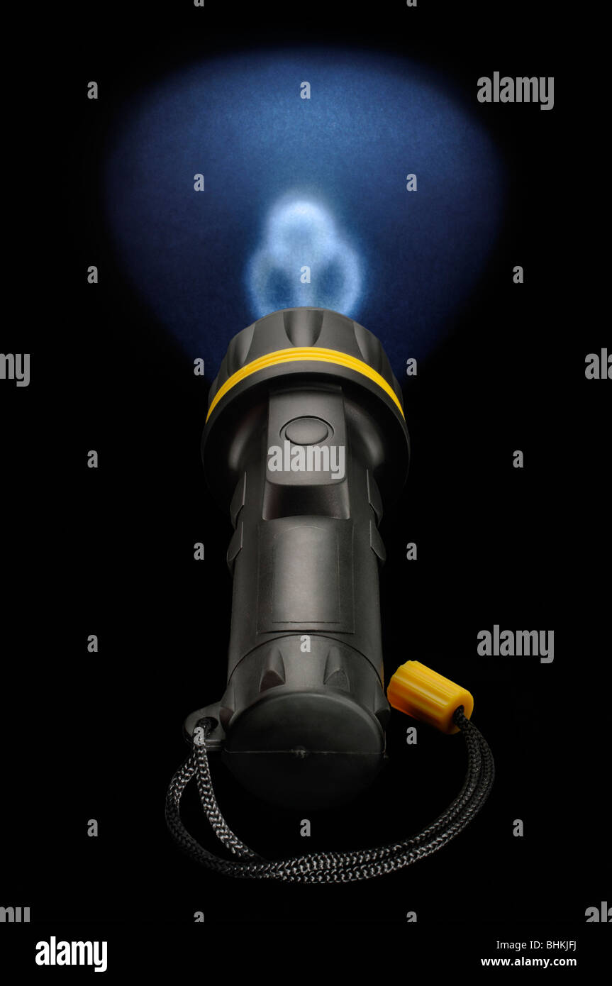 Three led electric torch light - Stock Image